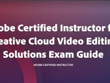 Adobe Certified Instructor for Video Editing